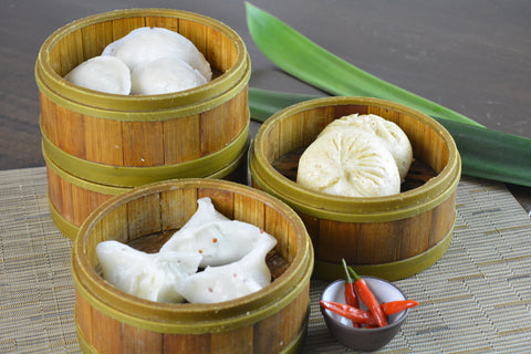 green gourmet dumplings