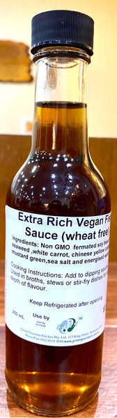 Extra Rich Vegan Fish Sauce (Wheat Free) by Green Gourmet 250mL