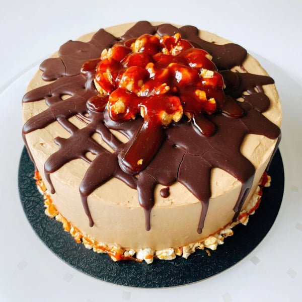 Caramel Pop Top Sponge Cake (GF)