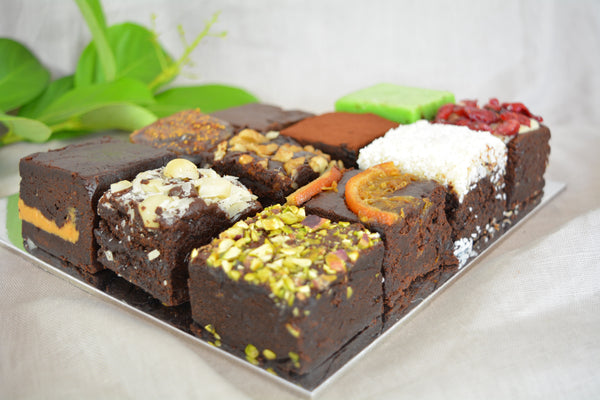 Chocolate Vegan Brownies (GF, RSF) - Assorted Box of 28