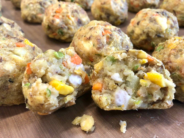 Lion King 'Meat' Balls (Soy Mince, Taro, Shiitake Mushroom, Water Chestnut, Red Miso) 6pcs 250g
