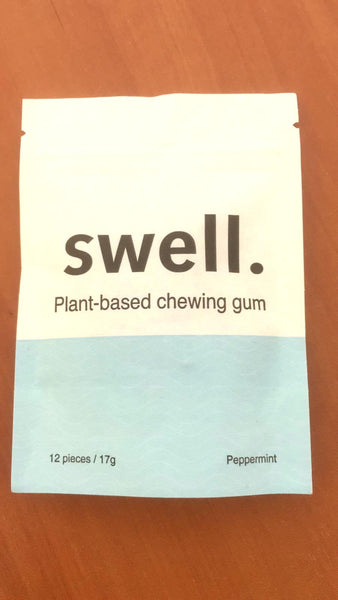Swell Plant Based Chewing Gum - Peppermint Flavour 12pcs / 17g