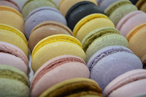 Egg-free Vegan Macarons coloured by Natural Fruit Juice (GF) - Assorted Box of 30