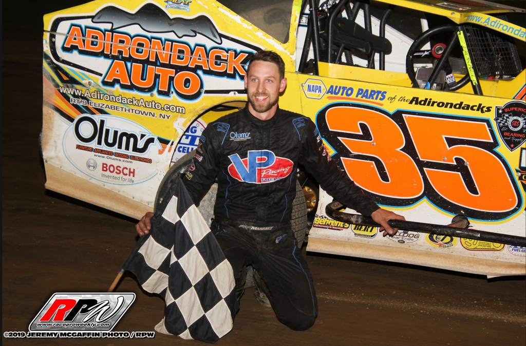 Mike Mahaney Gets Career First Modified Victory at Albany-Saratoga Speedway