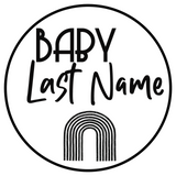 Custom Baby Last Name Sign