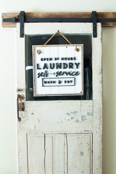 Laundry Self-Service Sign