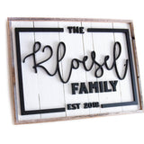 Custom Farmhouse Family Name Sign