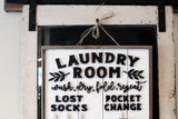 PICK-UP ONLY: Laundry Room Sign