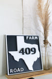 Custom Farm Road Sign