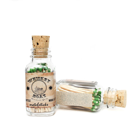 Vintage Apothecary Match Bottle