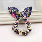 Rabbit Ear Fabric Rubber Band Hair Accessory