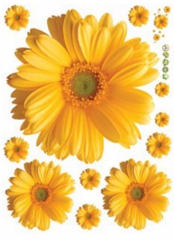 3d daisy flowers wall stickers 1 set deal shop stop