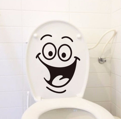 3D Smile Face Toilet Sticker