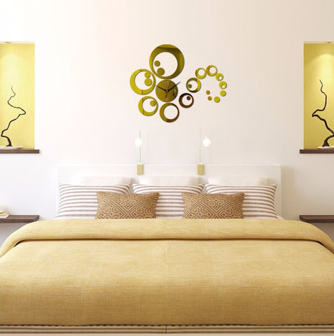 3D Swirl Sticker Wall Clock