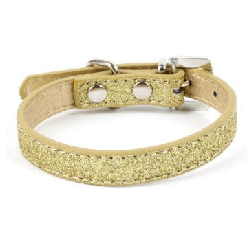 Bling Rhinestone Heart Leather Pet Dog / Cat Collar