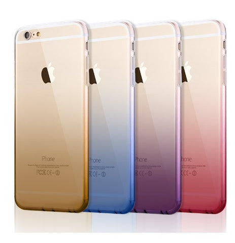 Gradient Color Soft Silicone Gel Apple iPhone Case (6, 6S, 6Plus, 6SPlus)