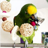 Handmade Hanging Ball with Bell Pet Parrot / Bird Toy