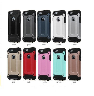 Hybrid Armor Protective Case for Apple iPhone (5, 5S, SE, 6, 6S, 6 Plus, 6S Plus, 7, 7Plus)
