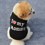 """I Love Mommy"" and ""I Love Daddy"" Pet Dog / Cat T-Shirt"