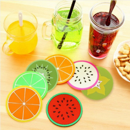 Novelty Silicone Fruit Coaster