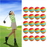 Soft Rainbow Sponge Training Practice Golf Balls (20 Balls)