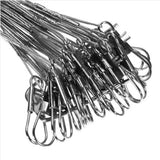 Stainless Steel Wire Leader with Barrel Swivel and Snap Swivel (72 pcs)