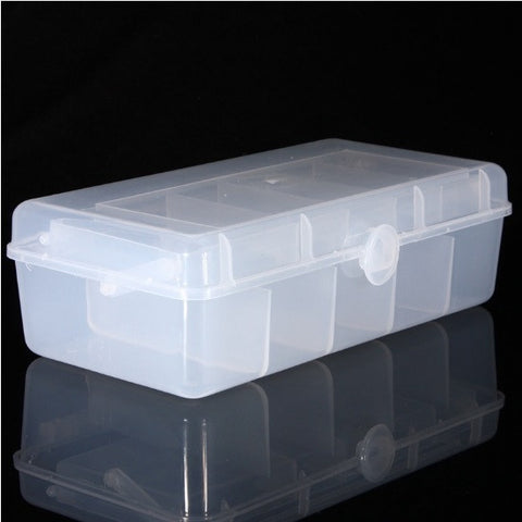 Transparent Double-Layer Fishing Tackle Box Storage Case
