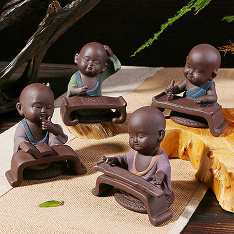 Tibetan Monks Small Statue - Guleria Store