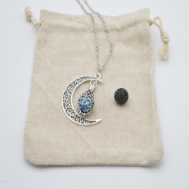 Moon Drop Aroma Necklace - Guleria Store