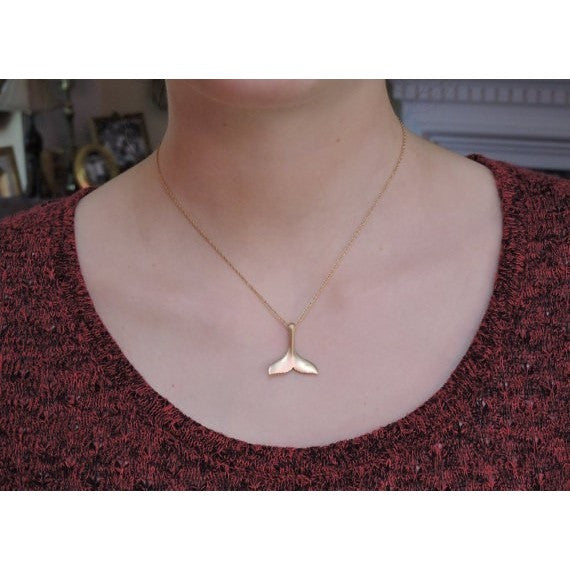 Whale Tail Pendant Necklace - Guleria Store