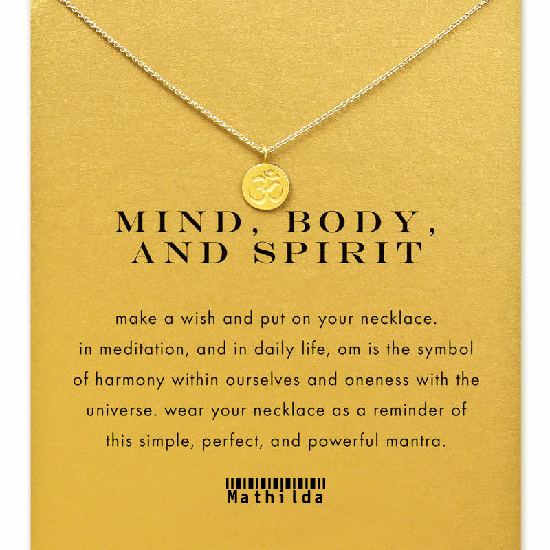 Mind Body and Spirit Om Pendant