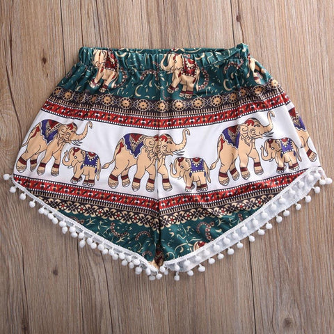 Elephant High Waist Shorts