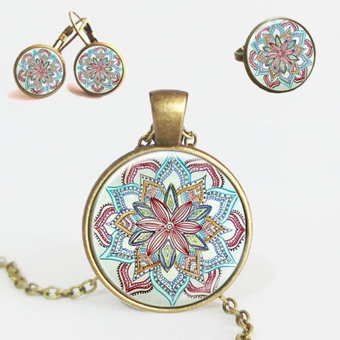 Flower Mandala Jewelry Set - Guleria Store