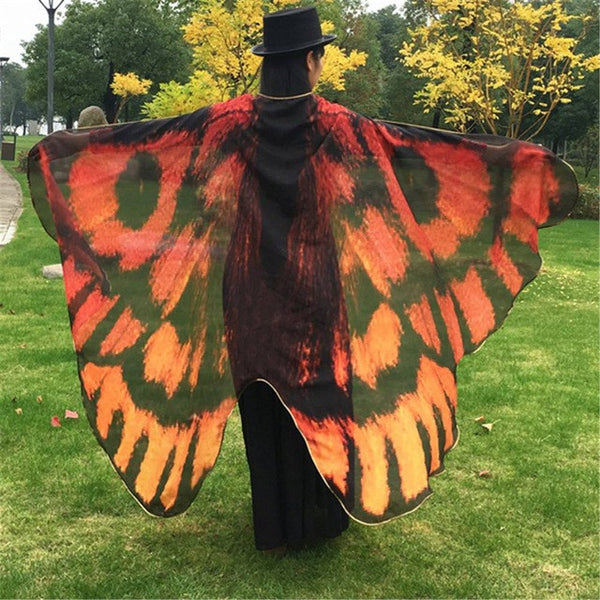 Rainbow Butterfly Wing Cape - Guleria Store