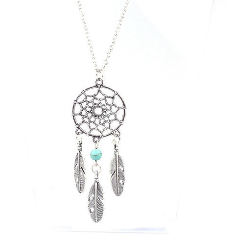 Dreamcatcher Feather Necklace - Guleria Store
