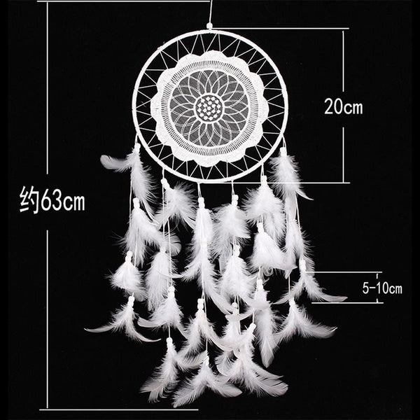 White Lace Dreamcatcher - Guleria Store