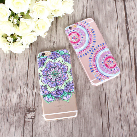 Mandala Flower Iphone Case - Guleria Store