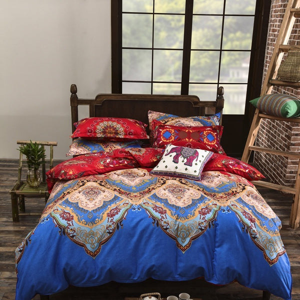 Blue Floral Bedding Set - Guleria Store