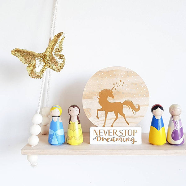 Little Pegg Collection - Handpainted Wooden Peg Dolls