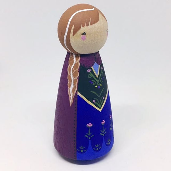 Little Pegg Collection Handpainted Wooden Peg Dolls Tagged