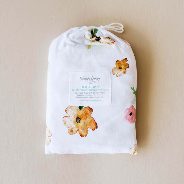Poppy Bassinet Sheet/Nappy Change Cover