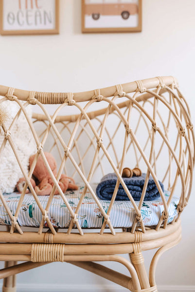 Whale Bassinet Fitted Sheet