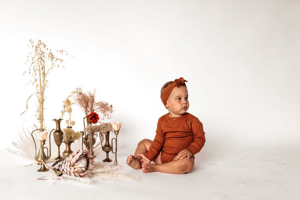 Organic Clothing - Biscuit Bodysuit