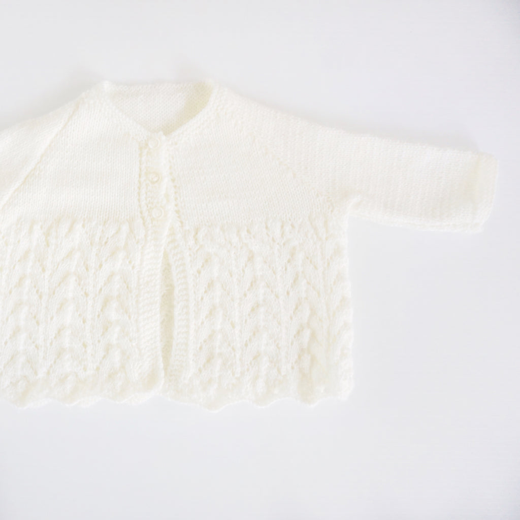 40325067b Hand Knitted Baby Cardigan - 100% Merino Wool – Willow n Oak