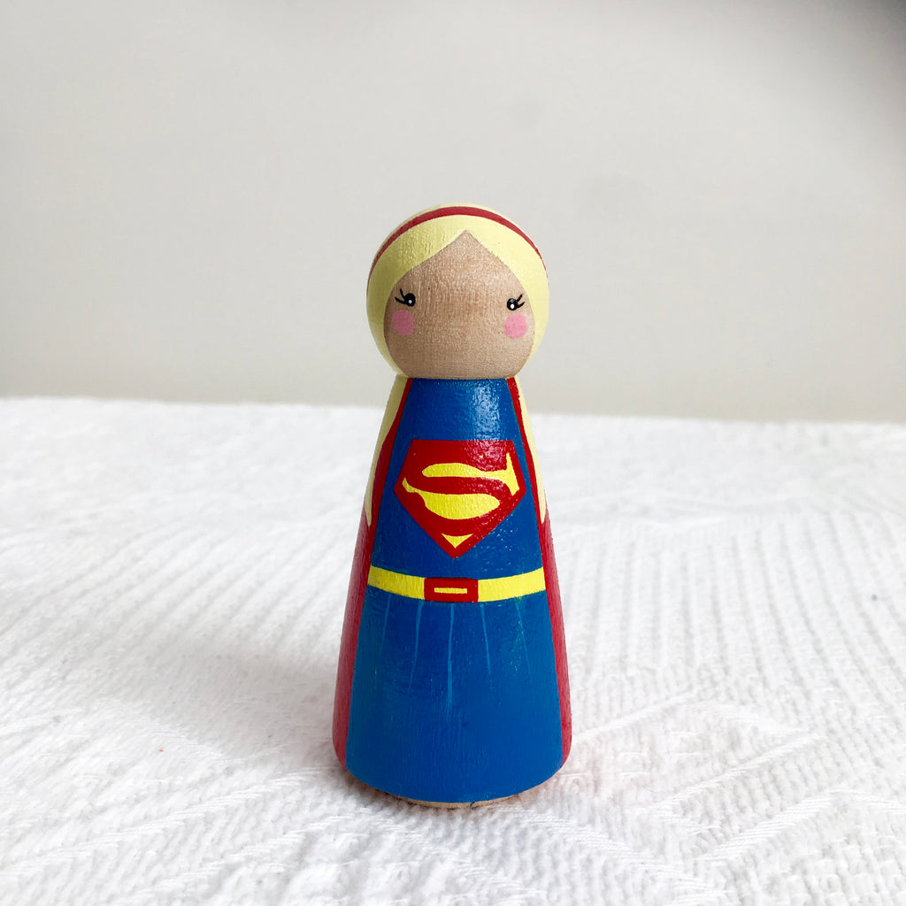 Supergirl Peg Doll