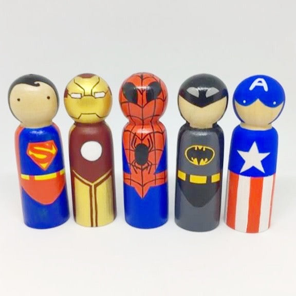 Superhero Inspired Peg Doll Bundle