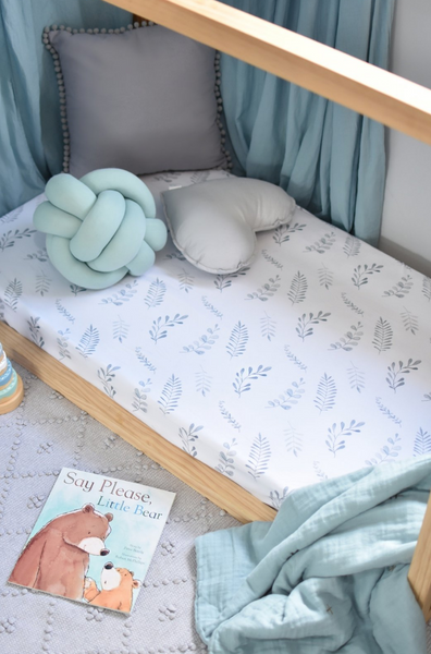 Wild Fern Fitted Cot Sheet - Snuggle Hunny Kids