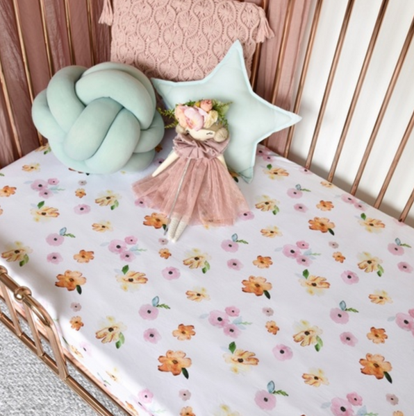Poppy Fitted Cot Sheet - Snuggle Hunny Kids