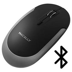 Macally Silent Wireless Bluetooth Mouse for Apple Mac or Windows PC Laptop/Desktop Computer