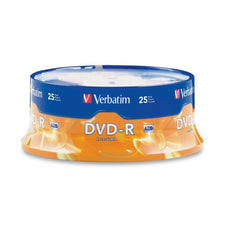 Verbatim 4.7GB up to 16x Branded Recordable Disc DVD-R (25-Disc Spindle)